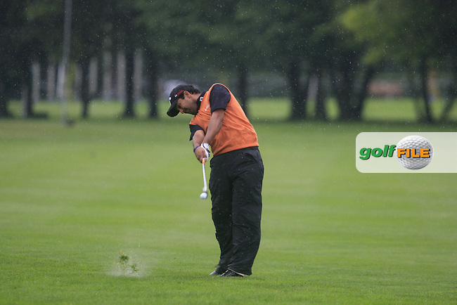 Shiv Kapur (IND) plays his 2nd shot from the rough on the 1st hole during Day 1 of the BMW International Open at Golf Club Munchen Eichenried, Germany, 23rd June 2011 (Photo Eoin Clarke/www.golffile.ie)