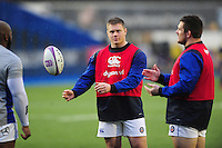 Nick Auterac of Bath Rugby looks on during the pre-match warm-up. European Rugby Challenge Cup match, between Cardiff Blues and Bath Rugby on December 10, 2016 at the Cardiff Arms Park in Cardiff, Wales. Photo by: Patrick Khachfe / Onside Images