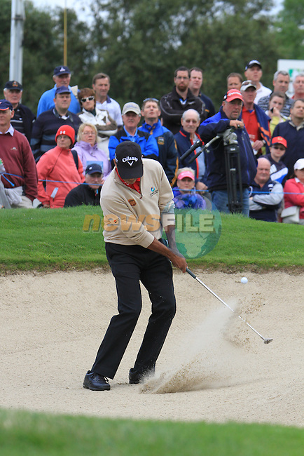 Jeev Milka Singh (IND) chips out of a bunker at the 12th green during Day 1 Thursday of The Irish Open presented by Discover Ireland at Killarney Golf & Fishing Club on 28th July 2011 (Photo Jenny Matthews/www.golffile.ie)