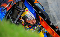 Jul. 18, 2009; Augusta, GA, USA; IHBA top fuel hydro driver Scotty Lumbert sits in his capsule prior to racing during qualifying for the Augusta Southern Nationals on the Savannah River. Mandatory Credit: Mark J. Rebilas-