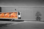 Roasted chicken tractor trailer landscape. Wegman's, Williamsport, PA.