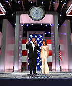 President Donald Trump and First Lady Melania Trump appear at the Liberty Ball at the Washington Convention Center on January 20, 2017 in Washington, D.C. Trump will attend a series of balls to cap hisInauguration day.     <br /> Credit: Kevin Dietsch / Pool via CNP