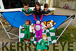 """Fionn (Tiger), Eoin, Meabh and Ciara McClure of Milltown as they are getting ready for their Lion King for the """"Stars in the Livingroom"""" fundraiser for Milltown/Castlemaine GAA Club.."""