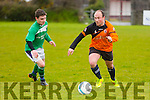 In Action Park's David Rogers and Castleisland's Ethan O'Connor at the  Denny Div 1 'A' St Brendans Park B v Castleisland Afc B at Christy Leahy Park on Sunday