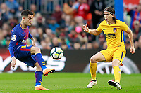 FC Barcelona's Philippe Coutinho (l) and Atletico de Madrid's Filipe Luis during La Liga match. March 4,2018. (ALTERPHOTOS/Acero) /NortePhoto.com NORTEPHOTOMEXICO