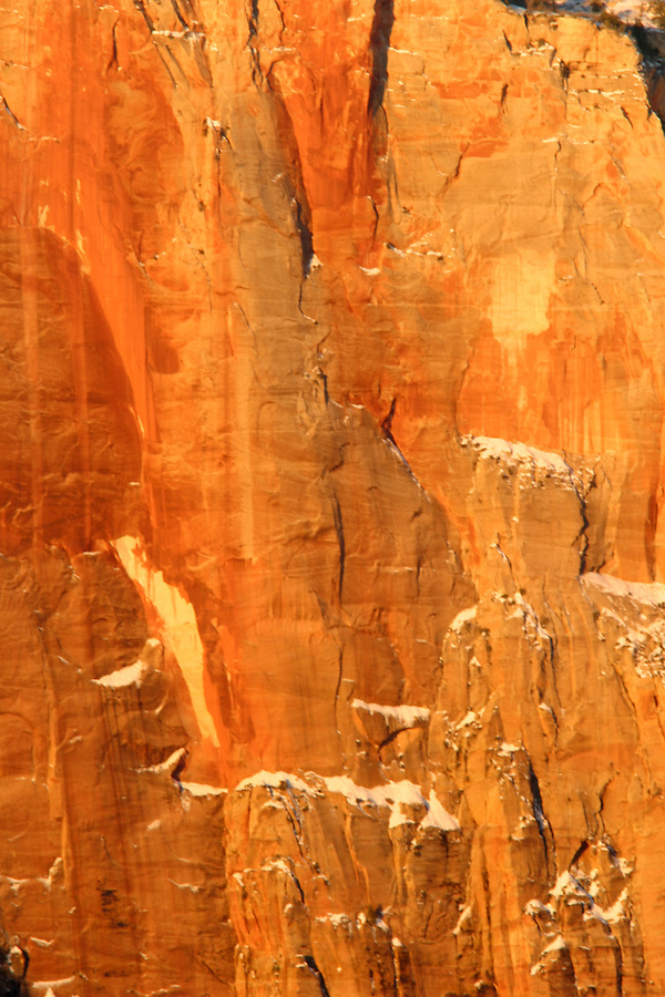 Orange Canyon wall, Zion National Park, Washington County, UT