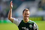 04/14/2011 - Jack Jewsbury and the Portland Timbers celebrate their 3-2 victory over FC Dallas after playing their second MLS home match at Jeld-Wen Field Sunday.  ..Photo by Christopher Onstott