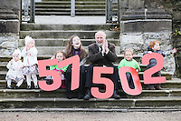 "NO REPRO FEE. 18/11/2010. METEOR CHRISTMAS TEXT APPEAL. Actress and Barnardos Ambassador Sarah Bolger and Barnardos CEO Fergus Finlay are pictured with 2 yr old twins Millie and Daisy Ryan, Alice Davies 3, Thomas Donoghue aged 3 and Rian Donoghue 4 in the grounds of IMMA to launch the Meteor Christmas text appeal to raise urgently needed funds for Barnardos this Christmas. Meteor customers can donate EUR2 with every cent going to the charity, by simply texting ""Barnardos"" tp 57502. Picture James Horan/Collins Photos"