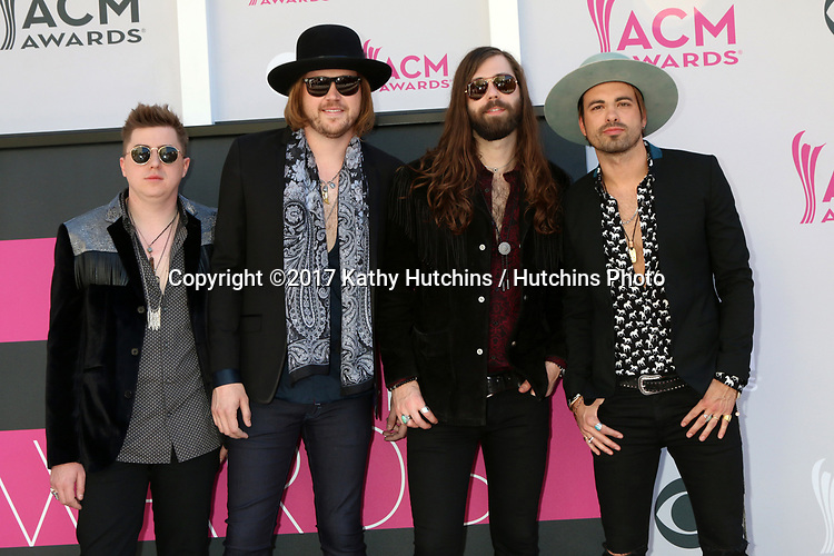 LAS VEGAS - APR 2:  A Thousand Horses at the Academy of Country Music Awards 2017 at T-Mobile Arena on April 2, 2017 in Las Vegas, NV