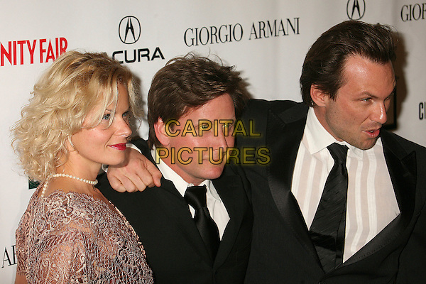 SONIA MAGDEVSKI, EMILIO ESTEVEZ & CHRISTIAN SLATER.21st Annual American Cinematheque Award Honoring George Clooney at the Beverly Hilton Hotel - Arrivals, Beverly Hills, California, LA, USA, 13 October 2006..half length.Ref: ADM/BP.www.capitalpictures.com.sales@capitalpictures.com.©Byron Purvis/AdMedia/Capital Pictures.