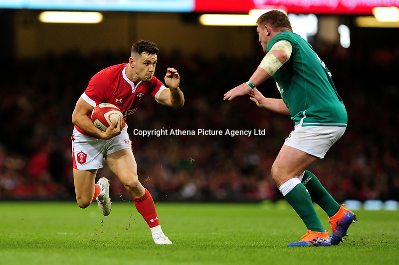 Aaron Wainwright of Wales in action during the under armour summer series 2019 match between Wales and Ireland at the Principality Stadium, Cardiff, Wales, UK. Saturday 31st August 2019
