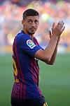 53e Trofeu Joan Gamper.<br /> Presentation 1st team FC Barcelona.<br /> Clement Lenglet.
