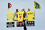 Km0 the start of Stage 1 of the 2019 Tour de France running 194.5km from Brussels to Brussels, Belgium. 6th July 2019.<br /> Picture: ASO/Alex Broadway | Cyclefile<br /> All photos usage must carry mandatory copyright credit (© Cyclefile | ASO/Alex Broadway)