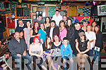 1338-1342.FAB 40: Jacinta O'Halloran, Ballyrickard Court, Tralee (seated centre) having a blast at her 40th birthday party in the Huddle bar, Strand road, Tralee on Friday night with many family and friends.