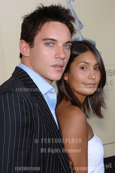 Actor JONATHAN RHYS-MEYERS & girlfriend REENA at the BAFTA/LA & Academy of TV Arts & Sciences 3rd Annual Tea Party honoring Emmy nominees..September 17, 2005  Los Angeles, CA..© 2005 Paul Smith / Featureflash