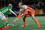 AMSTELVEEN - Billy Bakker (Ned)   tijdens de hockeyinterland Nederland-Ierland (7-1) , naar aanloop van het WK hockey in India. COPYRIGHT KOEN SUYK