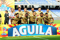 CALI-COLOMBIA , 21-10-2018.Formación del Ronegro.Acción de juego entre los equipos América de Cali y Rionegro durante partido por la fecha 16 de la Liga Águila II 2018 jugado en el estadio Pascual Guerrero de la ciudad de Cali./ Team of Rionegro.Action game between America of Cali  and Rionegro during the match for the date 16 of the Aguila League II 2018 played at Pascual Guerrero stadium in Cali city. Photo: VizzorImage/ Nelson Rios / Contribuidor