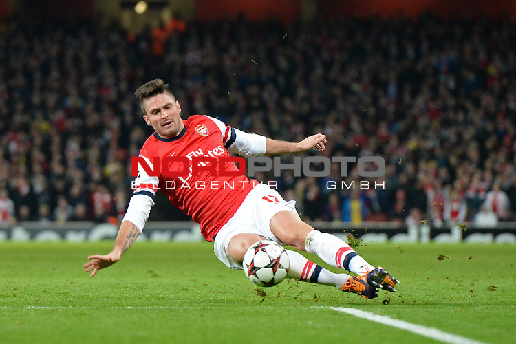 26.11.2013, Emirates Stadium London, UEFA Champions League, Arsenal FC  vs  Olympique Marseille, Gruppenphase, Pool E, im Bild <br /> <br /> Oliver Giroud <br /> <br /> Foto nph / Gunn