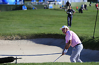 Dermot Desmond (IRL) chips in from a bunker at the 6th green at Pebble Beach course during Friday's Round 2 of the 2018 AT&amp;T Pebble Beach Pro-Am, held over 3 courses Pebble Beach, Spyglass Hill and Monterey, California, USA. 9th February 2018.<br /> Picture: Eoin Clarke | Golffile<br /> <br /> <br /> All photos usage must carry mandatory copyright credit (&copy; Golffile | Eoin Clarke)