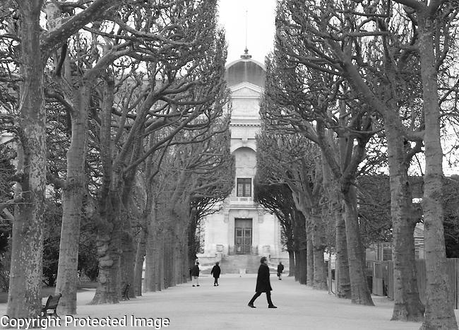 Plantes Garden Park in Winter in Paris, France
