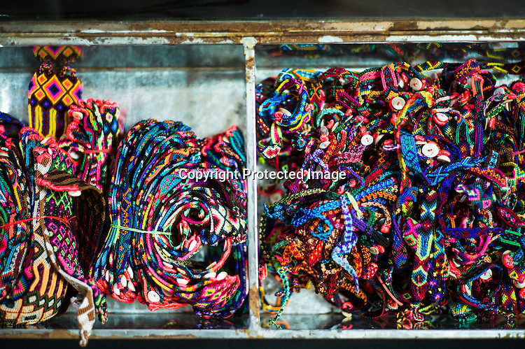 Details of designs and raw material of Mexican Designer, Sara Beltran is seen in her studio in Jaipur, Rajasthan, India.