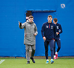 19.12.2019 Rangers training: Steven Gerrard and Borna Barisic