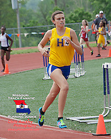Francis Howell senior Valeska Halamicek runs to victory in the girls 800 meter race at the Missouri Class 4 Sectional 2 Track and Field Championships at Parkway North High School, Saturday, May 18, St. Louis, MO.