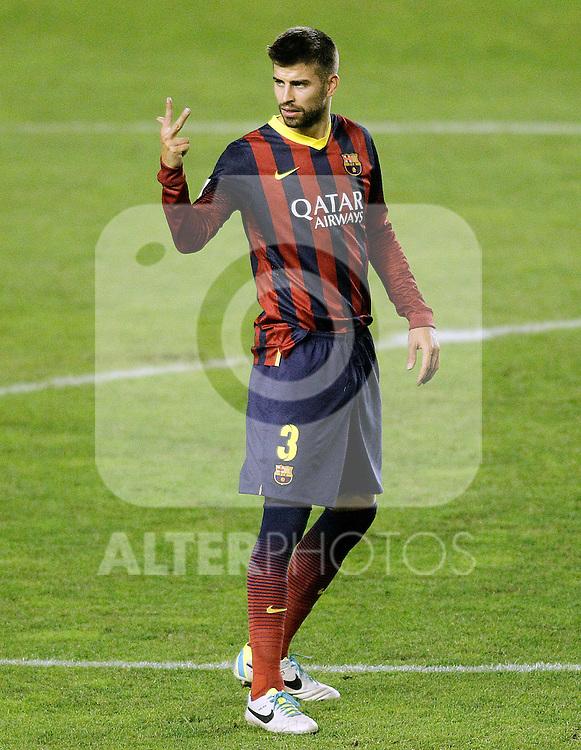 FC Barcelona's Gerard Pique during La Liga match.September 21,2013. (ALTERPHOTOS/Acero)