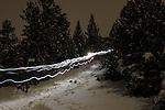 Excursio nocturna amb raquetes de neu.