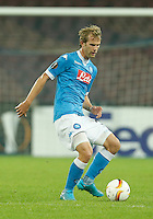 Napoli's Ivan Stric during the Europa  League Group D soccer match between SSC Napoli and Midtjylland at the San Paolo  Stadium in NaplesNovember 05, 2015