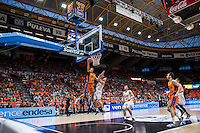 VALENCIA, SPAIN - June 11: Lucic during SEMI FINAL ENDESA LEAGUE match between Valencia Basket Club and Real Madrid Basket at Fonteta Stadium on June 11, 2015 in Valencia, Spain