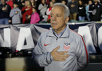 Cary, N.C. - Tuesday March 27, 2018: Dave Sarachan during an International friendly game between the men's national teams of the United States (USA) and Paraguay (PAR) at Sahlen's Stadium at WakeMed Soccer Park.