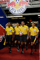 Harrison, NJ - Wednesday Aug. 03, 2016: Jairo Morales Garcia, Walter Enrique Quesada Cordero, Carlos Fernandez Castro, Javier Santos during a CONCACAF Champions League match between the New York Red Bulls and Antigua at Red Bull Arena.