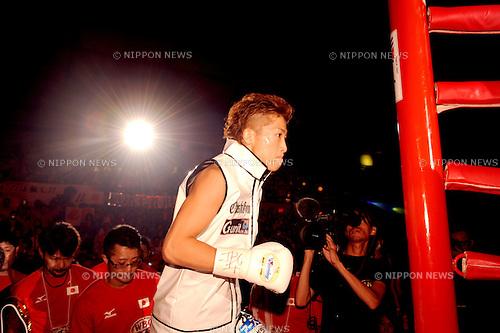 Naoya Inoue (JPN),<br /> SEPTEMBER 4, 2016 - Boxing :<br /> Naoya Inoue of Japan enters the ring before the WBO super flyweight title bout at Sky Arena Zama in Kanagawa, Japan. (Photo by Mikio Nakai/AFLO)