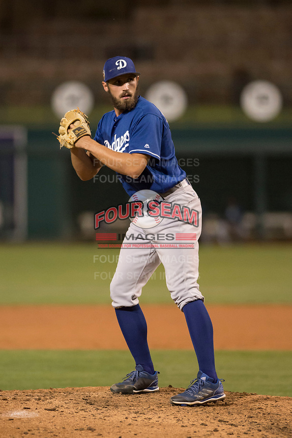 Los Angeles Dodgers relief pitcher Sven Schueller (9) during a Minor League Spring Training game against the Seattle Mariners at Camelback Ranch on March 28, 2018 in Glendale, Arizona. (Zachary Lucy/Four Seam Images)