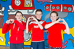 Glow Hearts 4 Crumlin - Sasha Gaudino, Ciaran Commane Megan Tearle from CBS primary Tralee supporting Crumlin by wearing red on Thursday