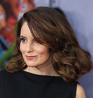 "HOLLYWOOD, LOS ANGELES, CA, USA - MARCH 11: Tina Fey at the World Premiere Of Disney's ""Muppets Most Wanted"" held at the El Capitan Theatre on March 11, 2014 in Hollywood, Los Angeles, California, United States. (Photo by Xavier Collin/Celebrity Monitor)"