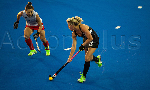 07.04.2016. Unison Hockey Turf, Hastings, New Zealand. Festival of Hockey New Zealand versus Korea. New Zealand's Gemma Flynn in action.