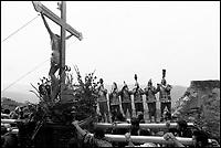 La Festa dei Giudei del Venerdì Santo. Giudei disturbano il passaggio della processione.