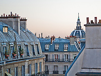 The rooftops of Paris gleam in the early morning.
