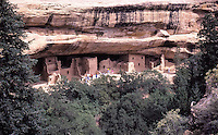 Mesa Verde national Park: Cliff Palace, Southwest Colorado. It's known for its well-preserved Ancestral Puebloan cliff dwellings.