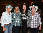 Linda and Elizabeth Giles, Jackie Murphy and Sylvia Collier at the Oberstown Farm barn dance. Photo:Colin Bell/pressphotos.ie