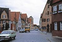 Dinkelsbuhl: Buildings, street.