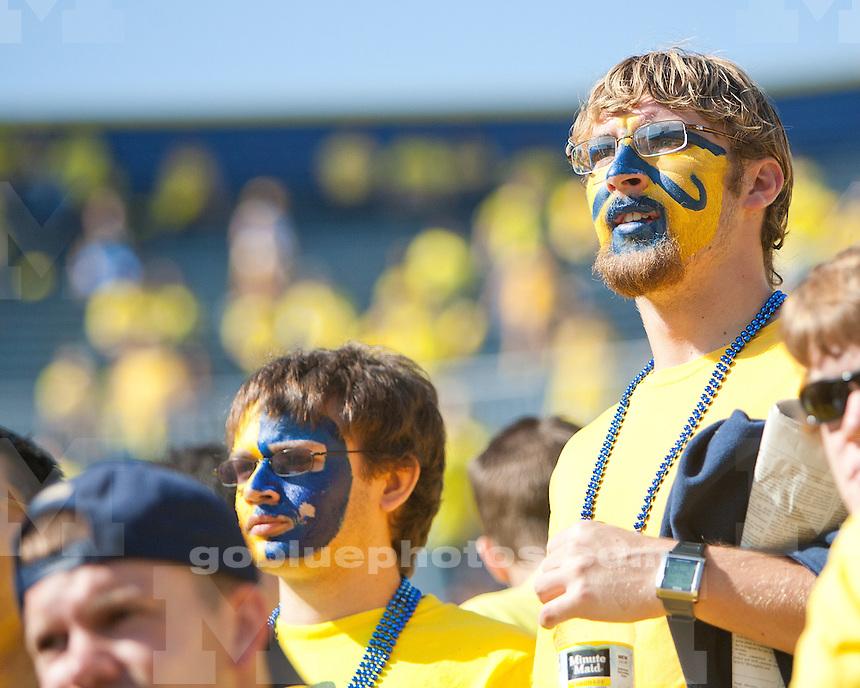 University of Michigan football versus Michigan State at Michigan Stadium in Ann Arbor, MI, on October 9, 2010.