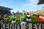 Mark Griffin amd Paul Geaney. Kerry players celebrate their victory over Donegal in the All Ireland Senior Football Final in Croke Park Dublin on Sunday 21st September 2014.