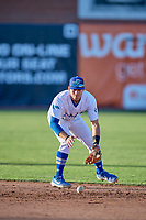 Jimmy Titus (40) of the Ogden Raptors during the game against the Orem Owlz at Lindquist Field on June 22, 2019 in Ogden, Utah. The Owlz defeated the Raptors 7-4. (Stephen Smith/Four Seam Images)