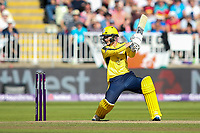 Hampshire's Calvin Dickinson hits the ball to the boundary for four<br /> <br /> Photographer Andrew Kearns/CameraSport<br /> <br /> NatWest T20 Blast Semi-Final - Hampshire v Notts Outlaws - Saturday 2nd September 2017 - Edgbaston, Birmingham<br /> <br /> World Copyright &copy; 2017 CameraSport. All rights reserved. 43 Linden Ave. Countesthorpe. Leicester. England. LE8 5PG - Tel: +44 (0) 116 277 4147 - admin@camerasport.com - www.camerasport.com