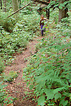 Sophie Works, age 7, hiking Burnt Jacket trail.