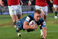 Ihaia West scores the matchwinning try during the 2017 DHL Lions Series rugby union match between the Blues and British & Irish Lions at Eden Park in Auckland, New Zealand on Wednesday, 7 June 2017. Photo: Dave Lintott / lintottphoto.co.nz