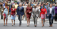 NEW YORK, NY-September 28: Hoda Kotb, Kathie Lee Giffortd, Matt Lauer,Savannah Guthrie, Al Roker, Tamron Hall, Billy Bush at  Today Show Commerical at 30 Rockefeller  Center Plaza in New York. September 28, 2016. Credit:RW/MediaPunch